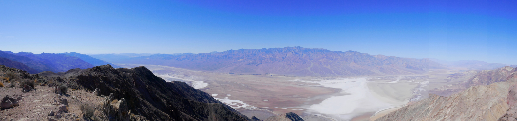 Death Valley le lac de sel vue de Dante Ridge