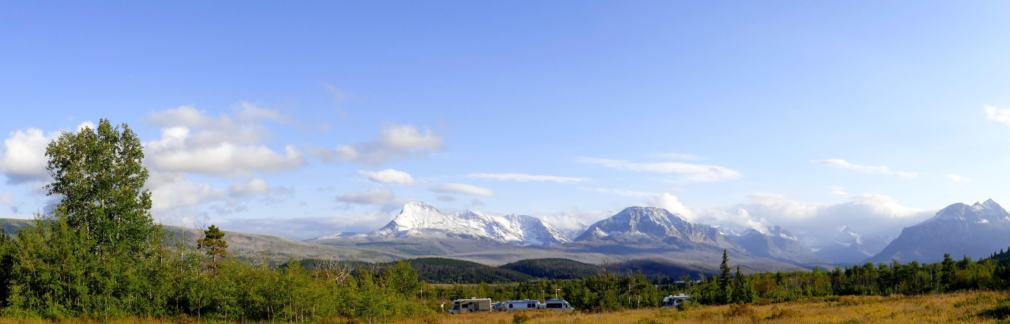 Glacier  NP vue du camping