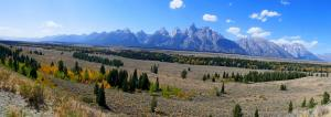 GRand Teton , vue de notre camping WOW