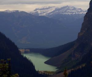 Hotel  Fairmont Lac Louise vue du glacier