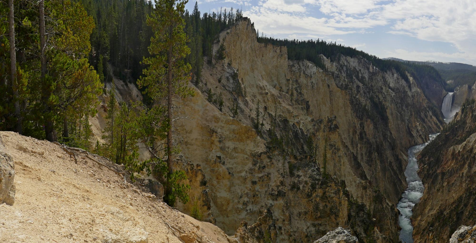 Insîration Point , canyon Rivière Yellowstone