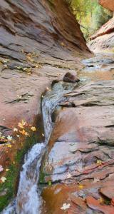 L'eau creuse le canyon