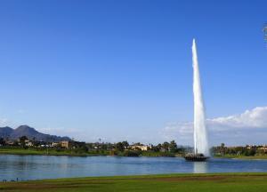 La fontaine, 300 pieds dans les airs, Fountain Hill