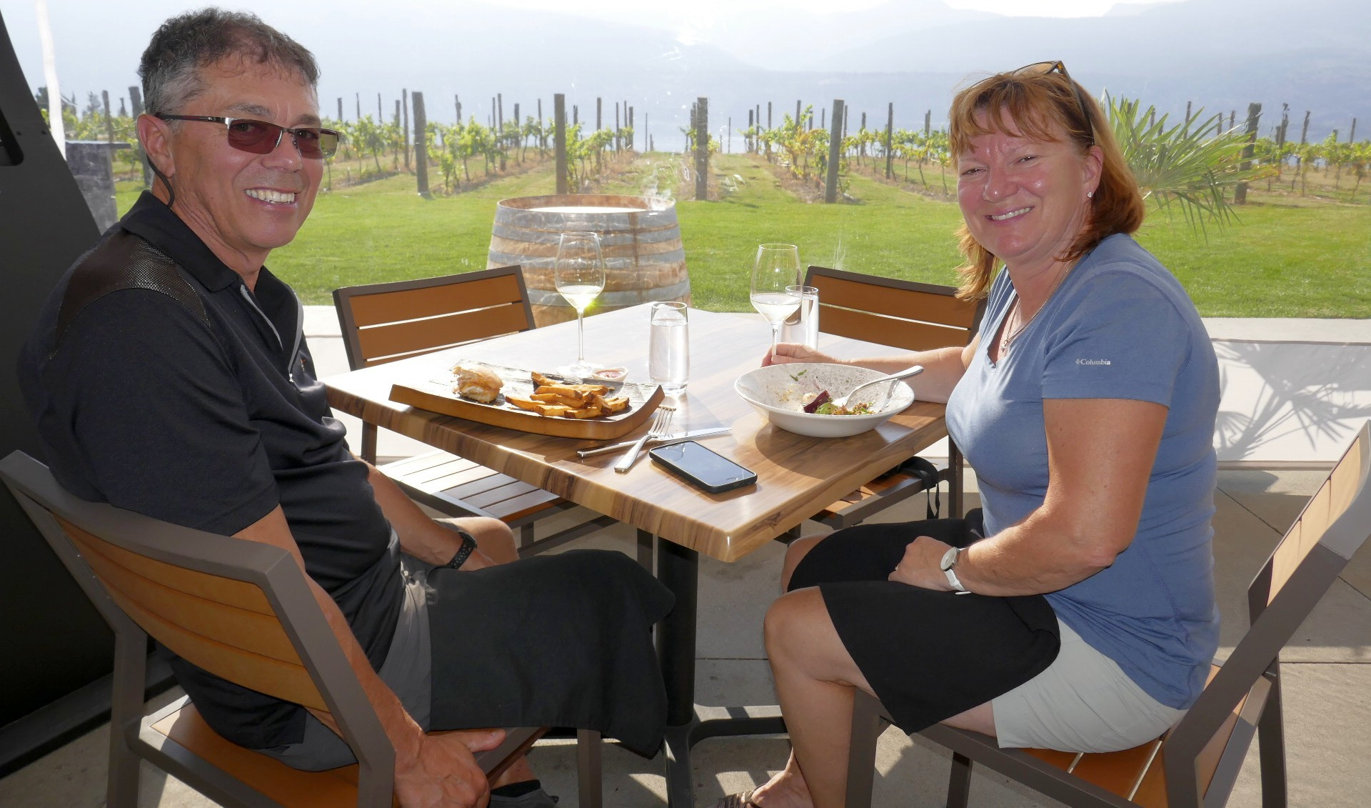 Lunch au  vignoble50 th Paralell
