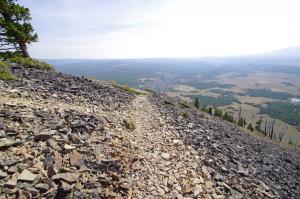 Mont bunsen piste dans la roche