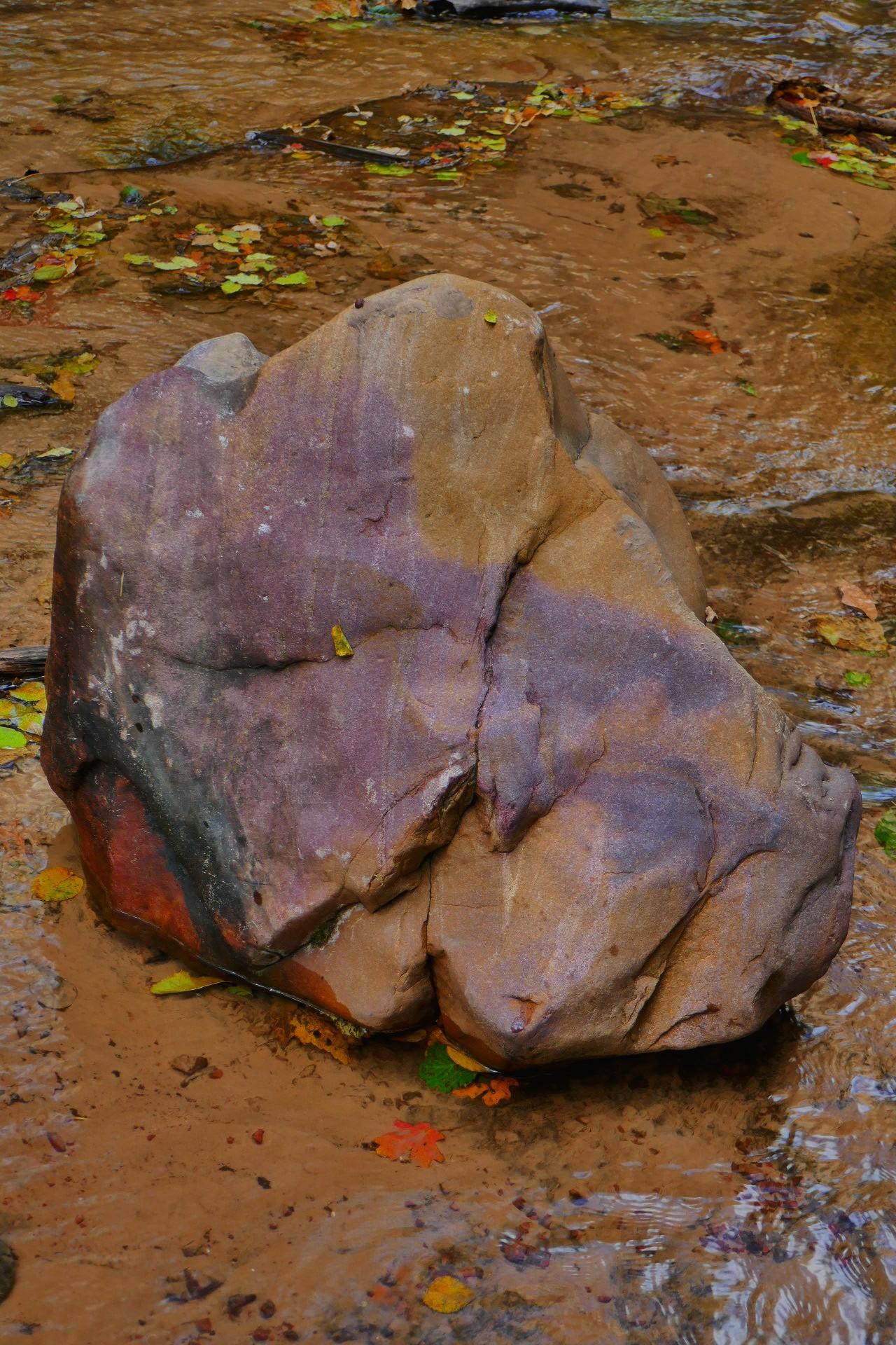 Multicouleur cette pierre dans le ruisseau