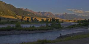 Pécheur rivière yellowstone