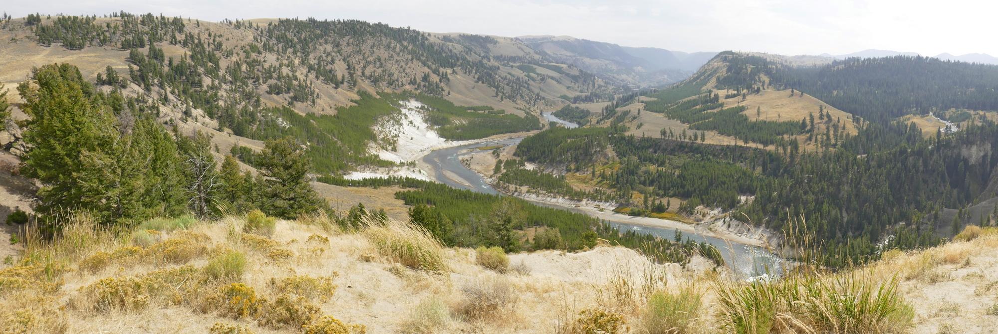 Riv Yellowstone basse et calcaire