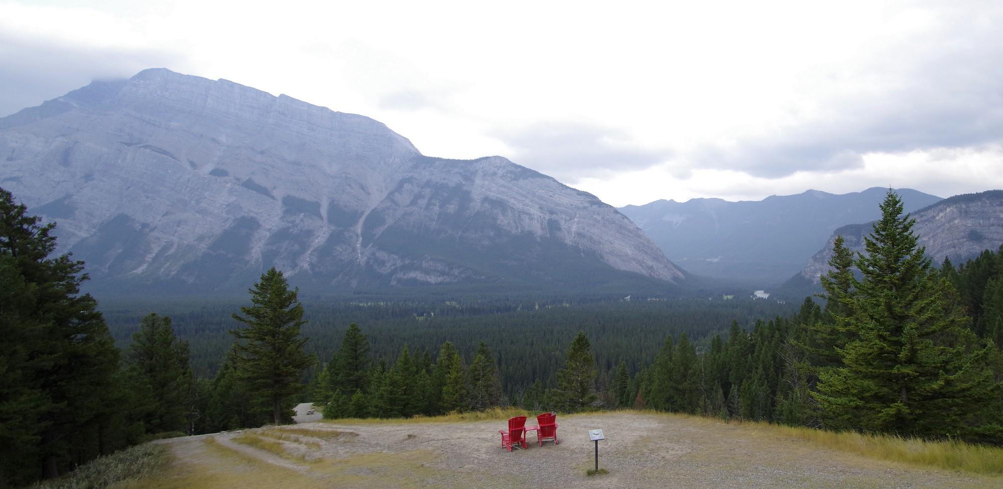 Sulfur Mountain devant la roulotte