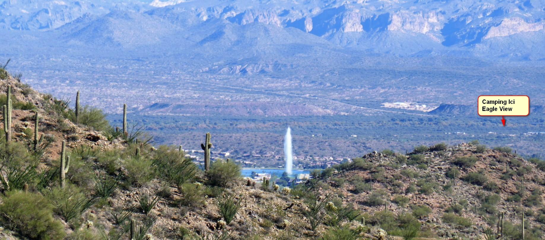 Vue de la preserve  sur  Fountain Hill