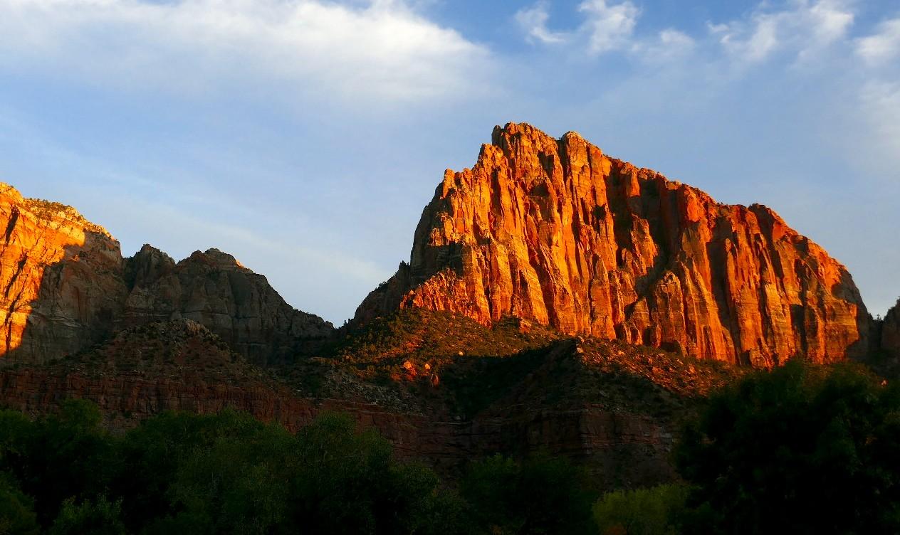 Zion , le soleil se couche