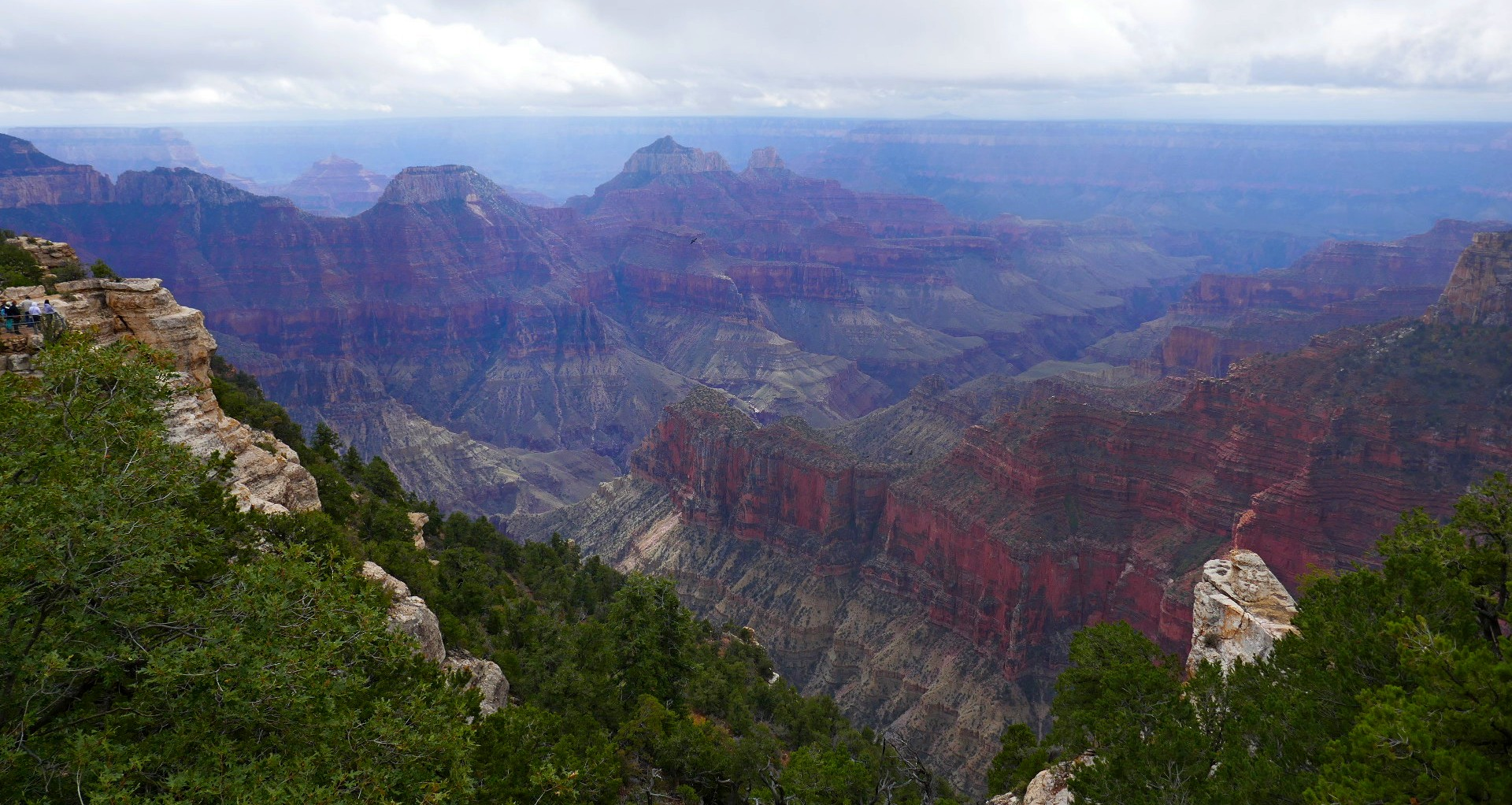 Grand canyon nord vue vers le sud