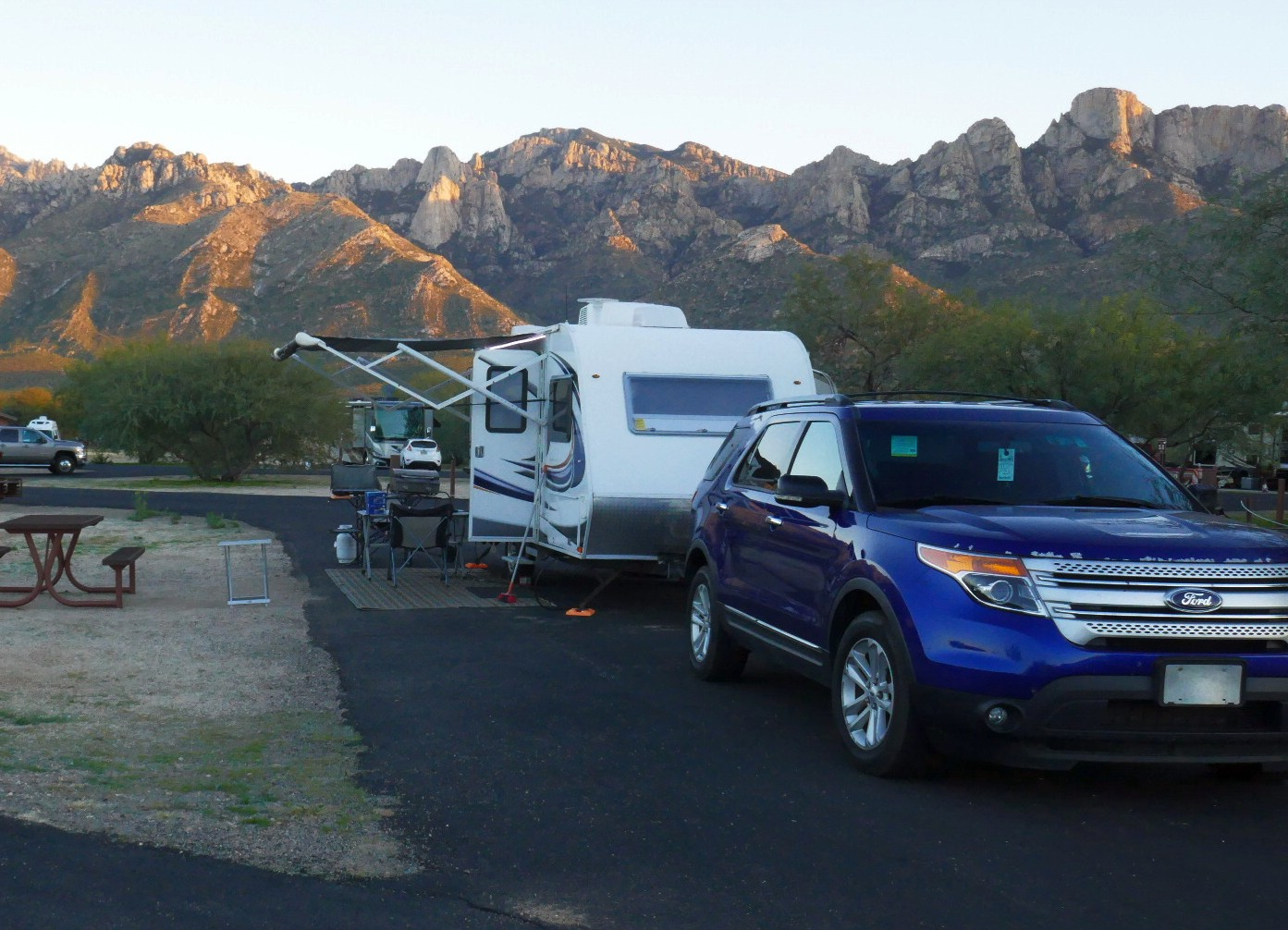 Notre campement aun Catalina SP Tucson AZ