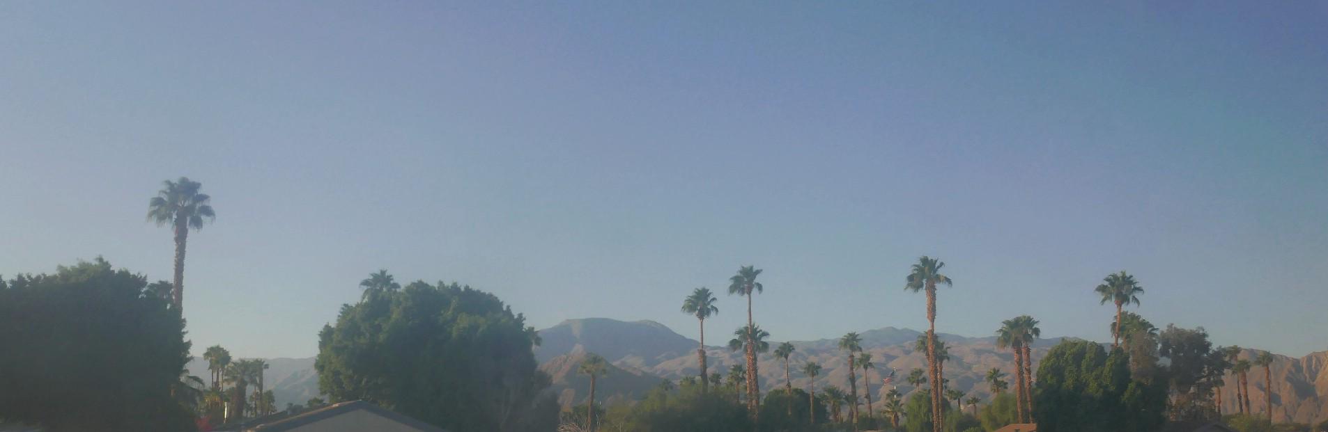 Palm spring de notre camping